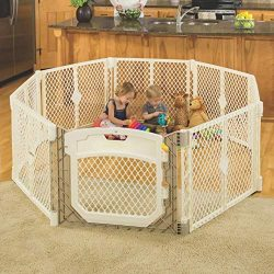 North States Superyard Ultimate Play Yd: Safe Play Area for Indoors or Outdoors – Folds Up ...