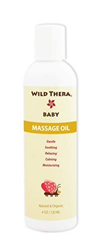 Wild Thera Herbal Baby Oil with Calendula and more. Reduce colic, eczema, constipation, gas, cra ...