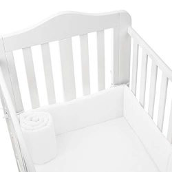 Soft Baby Cradle Bumper Pad – Machine Washable, Breathable Liner – Fits 18×36&# ...