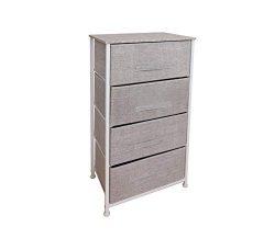 East Loft Tall 4 Drawer Dresser |Storage Organizer for Closet, Nursery, Bathroom, Laundry or Bed ...