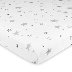 TL Care 100% Natural Cotton Value Jersey Knit Fitted Cradle Sheet, Super Stars, Soft Breathable, ...