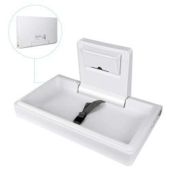 TUSY Wall-Mounted Baby Changing Station Horizontal Fold-Down Diaper Change Table with Safety Str ...