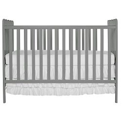 Dream On Me Carson Classic 3 in 1 Convertible Crib, Steel Grey