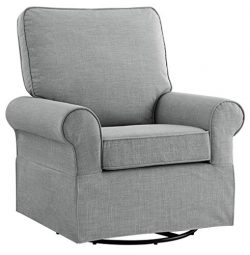 Angel Line Natalie Upholstered Swivel Glider, Grey