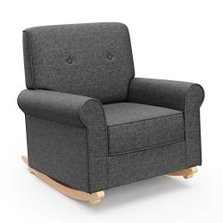 Graco Harper Tufted Rocker, Night Sky Cleanable Upholstered Nursery Rocking Chair, Converts to S ...