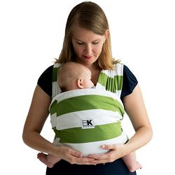 Baby K'tan Print Baby Wrap Carrier, Infant and Child Sling-Olive Stripe Medium (W dress 10 ...