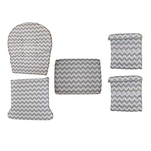 Storkcraft Hoop Glider and Ottoman Replacement Cushion Set- Stylish Cushion Replacement Set for  ...