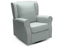 Delta Children Middleton Upholstered Glider Swivel Rocker Chair, Sea Breeze