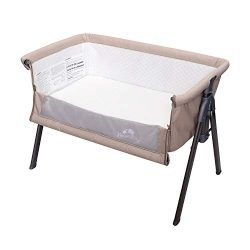 Kinbor Baby Side Sleeper Bedside Easy Folding Portable Bassinet with Travel Case Mattress and St ...