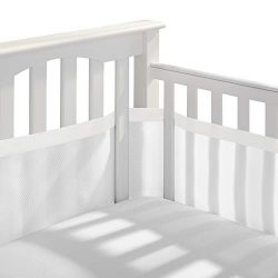 BreathableBaby Deluxe Patented, Safer for Baby, Anti-Bumper, Non-Padded, Breathable Mesh Crib Li ...