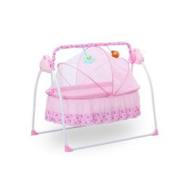 Electric Baby Crib Music Cradle Rocking Infant Bassinet Sleeping Bed Auto Bassinet Swing Sleepin ...