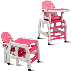 INFANS 3 in 1 Baby High Chair, Convertible Toddler Table Chair Set, Rocking Chair, Multi-Functio ...