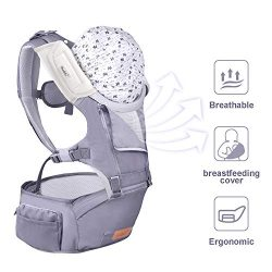 Bable Baby Carrier with Hip Seat, 6-in-1 Convertible Carrier, 360 Ergonomic Baby Carrier Backpac ...