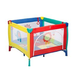 Kinbor Baby Play Portable Playard Play Pen with Mattress Safety Baby Playard with Door Activity  ...