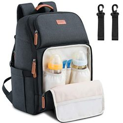 Baby Diaper Bag Backpack Large Multifunction Water Resistant Neutral Baby Bag for Mom Dad Lightw ...