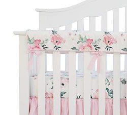 Sahaler Baby Crib Rail Cover Long Crib Rail Guard Baby Teething Cover Protector Wrap Nursery Bed ...