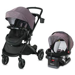 Graco Modes2Grow Travel System | Includes Modes2Grow Stroller and SnugRide SnugLock 35 Infant Ca ...