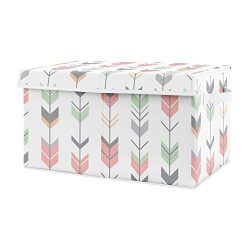Sweet Jojo Designs Coral, Mint and Grey Woodland Arrow Girl Baby Nursery or Kids Room Small Fabr ...