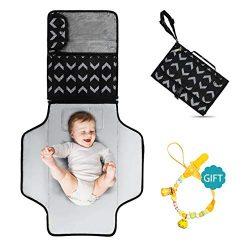 Portable Diaper Changing Pad – Large 23.5″ x 21.75″ Baby Change Travel Mat  ...