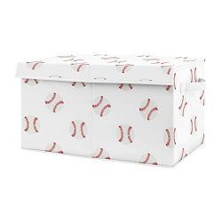 Sweet Jojo Designs Red and White Sports Boy Baby Nursery or Kids Room Small Fabric Toy Bin Stora ...