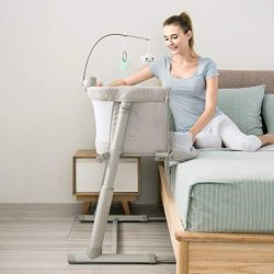 Bedside Sleeper for Baby, Kidsclub, Baby Bassinet for New Born, Standalone Bassinet & Side-S ...