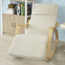 Haotian Comfortable Relax Rocking Chair with Foot Rest Design, Lounge Chair, Recliners Poly-Cott ...