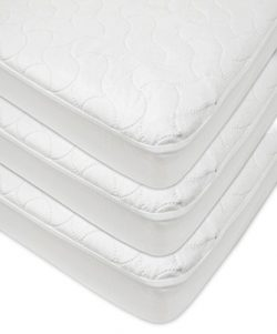 American Baby Company Waterproof Fitted Quilted Crib and Toddler Protective Pad Cover, White, 3  ...