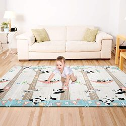 Bammax Play Mat, Folding Mat Baby Crawling Mat Kids Playmat Waterproof Non Toxic for Babies, Inf ...