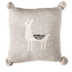 Linen Perch Baby Nursery Llama Throw Pillow – Baby Throw Cushion Cover and Insert for Nurs ...
