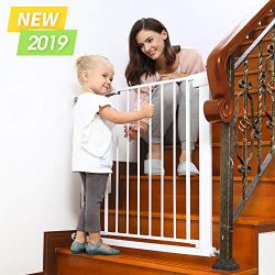 Baby Gates for Stairs and Doorways Dog Gates for The House, 30-40.5 inches – Indoor Safety ...