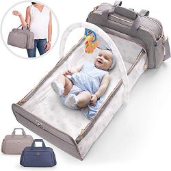4-in-1 Convertible Baby Diaper Bag – Get Organized with Multi-Purpose Travel Baby Bag R ...