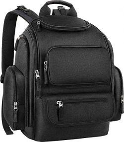 Dad Diaper Bag Backpack, Large Baby Diaper Bag Big Travel Baby Bag with Stroller Straps for Girl ...