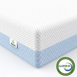 Dourxi Crib Mattress, Dual Sided Comfort Memory Foam Toddler Bed Mattress, Triple-Layer Breathab ...