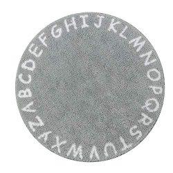 Lahome ABC Alphabet Kids Round Rug – 3′ Diameter Alphabet Educational Area Rugs Non- ...