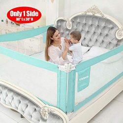 SURPCOS Bed Rails for Toddlers – 60″ 70″ 80″ Extra Long Baby Bed Rail Gu ...