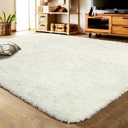 LOCHAS Soft Indoor Modern Area Rugs Fluffy Living Room Carpets Suitable for Children Bedroom Dec ...
