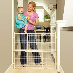 North States 50″ Wide Extra-Wide Wire Mesh Baby Gate: Installs in Extra-Wide Openings in S ...