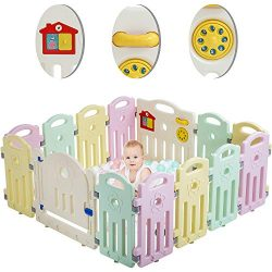 Baby Playpen Playard for Babies Infants Toddler 14/18 Panels Safety Kids Play Pens Indoor Baby F ...