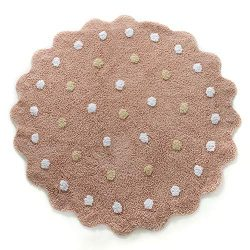 Fancytan Playroom Round Polka Dot Kids Rugs Baby Crawling Play Mat Carpet for Children Kids Tent ...