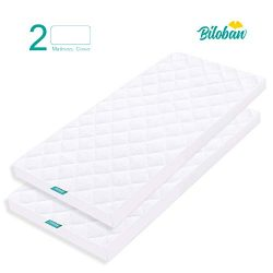 Cradle Mattress Pad Cover for 36″ × 18″ Standard Cradle Mattress, Ultra Soft Bamboo  ...