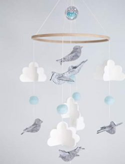 Baby Crib Mobile for Boys and Girls – Baby Shower Gift Set Nursery Decor Infant Bedroom Ha ...
