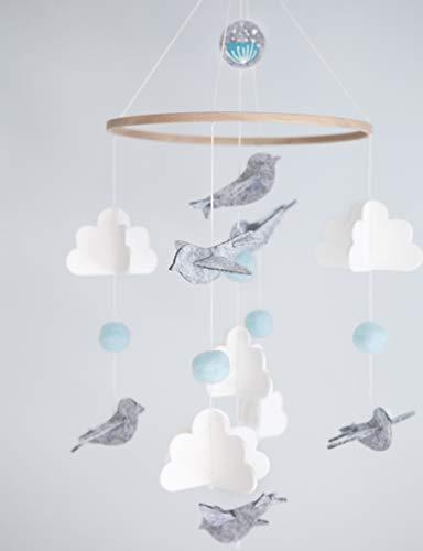 Baby Crib Mobile for Boys and Girls – Baby Shower Gift Set Nursery Decor Infant Bedroom Ha ...
