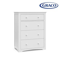 Storkcraft 03704-101 Graco Hadley 4 Drawer (White) Nursery Dresser,