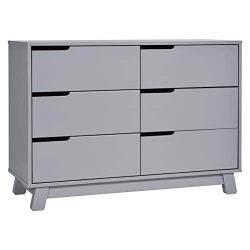 Babyletto Hudson 6-Drawer Assembled Double Dresser, Grey