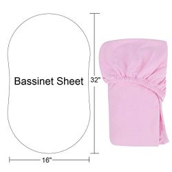 Bassinet Sheet 100% Natural Cotton Crib Fitted Sheets Baby Sheet for Toddler mattresses Nursery  ...