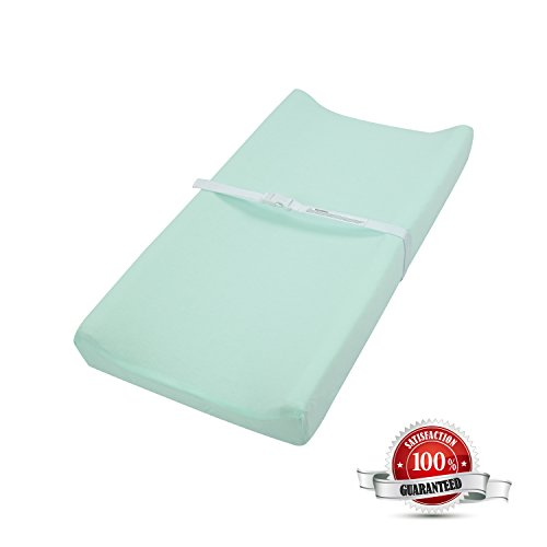TILLYOU Jersey Knit Diaper Changing Pad Cover-Cradle Sheet Unisex Change Table Sheets for Baby G ...