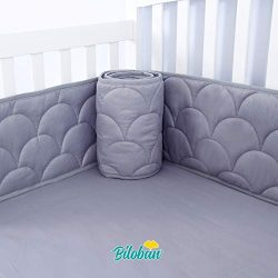 Baby Bumper for Cribs, Safe & Washable Baby Bedding Bumpers Crib Padded Liners for Boys, 4 P ...