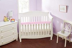 Everyday Kids Padded Baby Crib Rail Cover – Crib Rail Teething Guard – 1-PC Front Ra ...