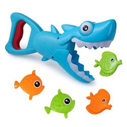 Hoovy Bath Toys Fun Baby Bathtub Toy Shark Bath Toy for Toddlers Boys & Girls Shark Grabber  ...