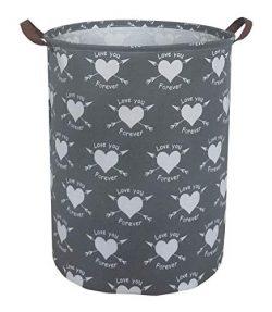 ESSME Laundry Hamper,Collapsible Canvas Waterproof Storage Bin for Kids, Nursery Hamper,Gift Bas ...